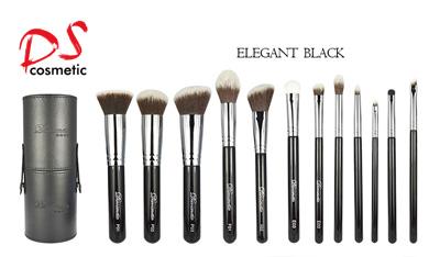 Dishi 2017   12pcs synthetic hair black handle makeup brush set