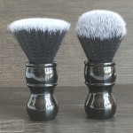 Dishi black handle resin shaving brush