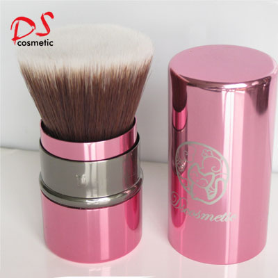 RETRACTABLE BRUSH FLAT TOP PINK