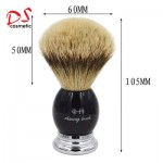 BLACK METAL RESIN SHAVING BRUSH