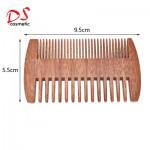 DISHI beard comb double end wood