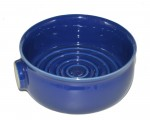 new blue ceramic bowl