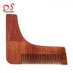 Dishi Beard comb Wood L shape one side comb