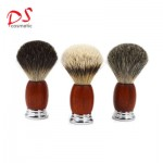 Red wood with metal shaving brush